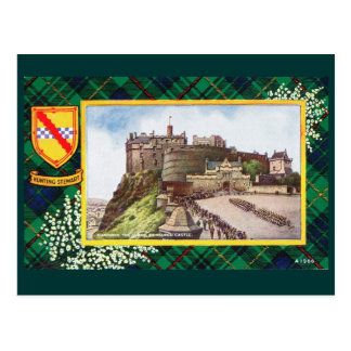 Vintage Scotland, Hunting Stewart Edinburgh Postcard