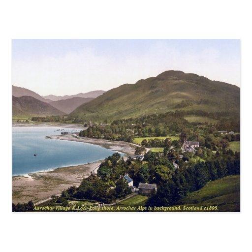 Vintage Scotland postcard, Aarochar, Loch Long Postcards