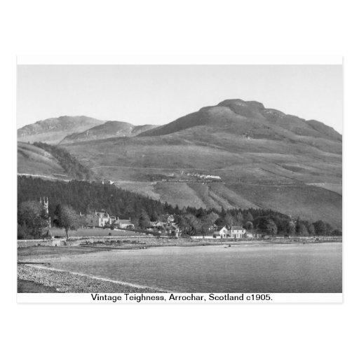 Vintage Scotland U.K. postcard,  Arrochar Alps Postcard