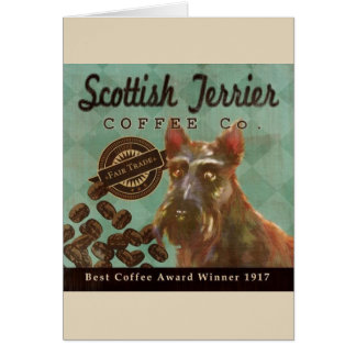 Vintage Scottish Terrier Coffee Ad, Card