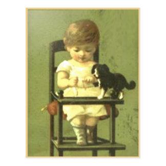 Vintage Scrap Book Postcard With Sweet Baby