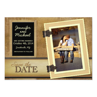 Vintage Scrapbook Save the Date Card
