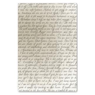 Vintage Script Text Art Tissue Paper