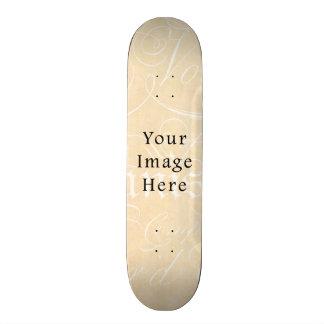 Vintage Script Text Tan Parchment Paper Background Skate Boards