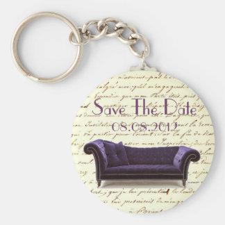 vintage scripts paris chandelier wedding basic round button key ring