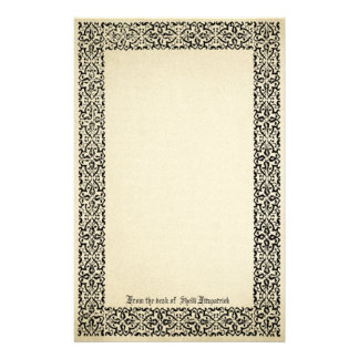 Vintage Scroll Border Parchment Personalized Customized Stationery