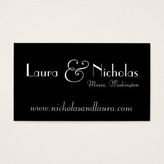 Vintage Scroll Monogram Black & White Website Card