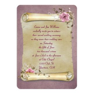 Vintage Scroll Vow Renewal 13 Cm X 18 Cm Invitation Card