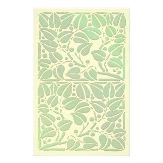 Vintage Scrolling Leaf Artwork Stationery