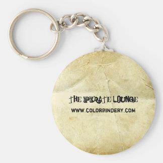 Vintage Scrolls Keychain Basic Round Button Keychain
