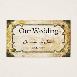 Vintage Scrolls Steampunk Wedding Website Card
