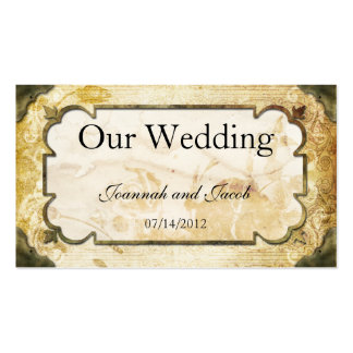 Vintage Scrolls Steampunk Wedding Website Card Double-Sided Standard Business Cards (Pack Of 100)