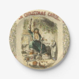 Vintage Scrooge Ghost of Christmas Present Paper Plate