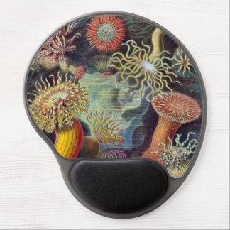 Vintage Sea Anemones by Ernst Haeckel Gel Mouse Pad