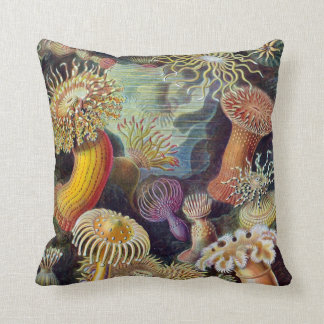 Vintage Sea Anemones Cushion