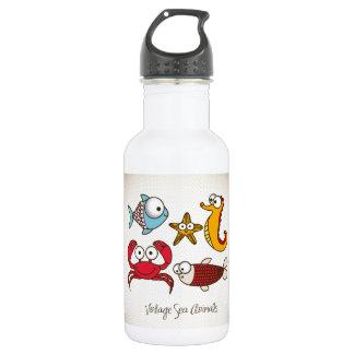Vintage Sea Animals 532 Ml Water Bottle