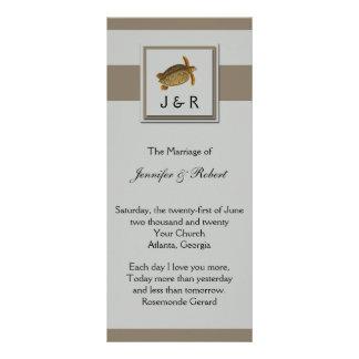 Vintage Sea Animals Wedding Program Rack Cards