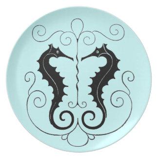 VIntage Sea Horse Design Plate