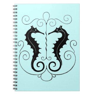 Vintage Sea Horses Spiral Notebook
