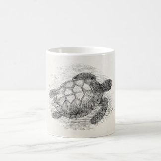 Vintage Sea Turtle Personalized Marine Turtles Coffee Mug