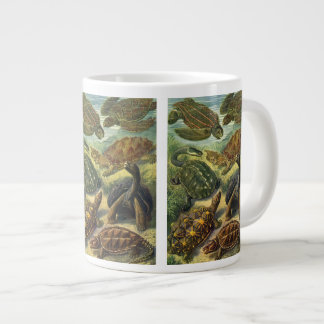 Vintage Sea Turtles and Tortoises by Ernst Haeckel Large Coffee Mug