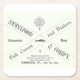 Vintage Seafood Advertisement Coaster Set