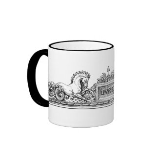 Vintage - Seahorse and Griffin Insignia Ringer Mug