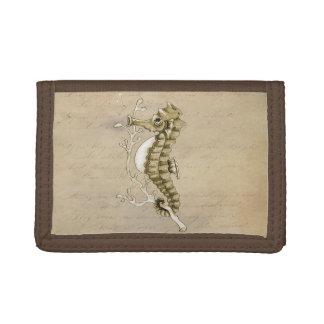 Vintage Seahorse Trifold Wallet