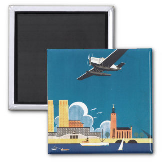 Vintage Seaplane Magnet