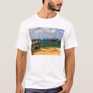 Vintage Seascape, Nassau Harbor by Bierstadt T-Shirt