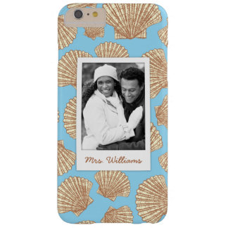 Vintage Seashell Pattern | Your Photo & Name Barely There iPhone 6 Plus Case
