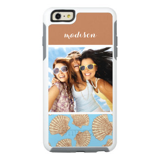 Vintage Seashell Pattern | Your Photo & Name OtterBox iPhone 6/6s Plus Case
