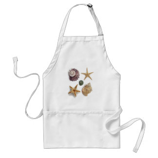 Vintage seashells shabby chic beach decor standard apron