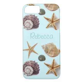 Vintage seashells shabby chic beach starfish iPhone 7 case