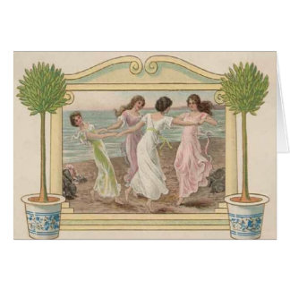 Vintage Seaside All Occasions Greeting Card