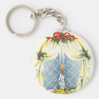 Vintage Season's Greetings Keychain