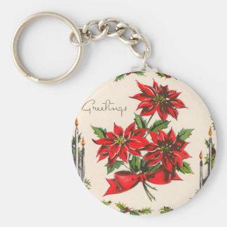 Vintage Season's Greetings Keychain