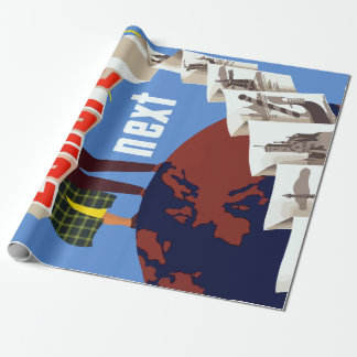 Vintage See Europe Next Travel Wrapping Paper