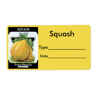 Vintage Seed Pack Label Squash Shipping Label
