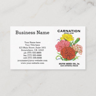 Flower Label Business Cards Zazzle Au