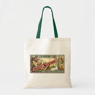Vintage Seed Packet Label Art, Vick's Choice Seeds Tote Bag