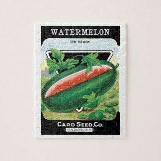 Vintage Seed Packet Label Art, Watermelons Fruit Jigsaw Puzzle