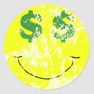 Vintage Seeing Green Smiley Sticker
