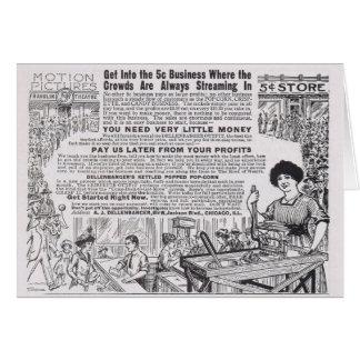 Vintage Sell Popcorn Advertisement: Make Money! Card