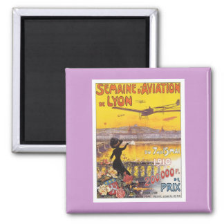 Vintage Semaine D'aviation Square Magnet