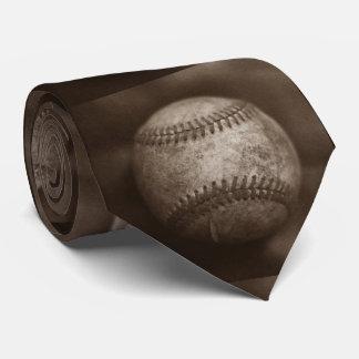 Vintage Sepia Baseball Tie