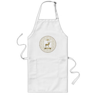 Vintage Sepia Northwoods Buck Cook and Craft Apron