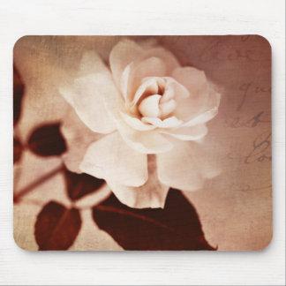 Vintage Sepia Rose Flower Floral Flowers Roses Mouse Pad