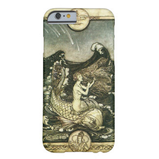 VINTAGE SEPIA TONE MERMAID OCEAN BARELY THERE iPhone 6 CASE