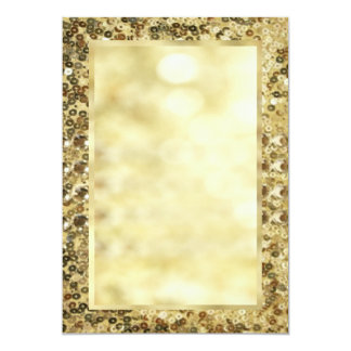 Vintage Sequin Gold Bokeh Template Card